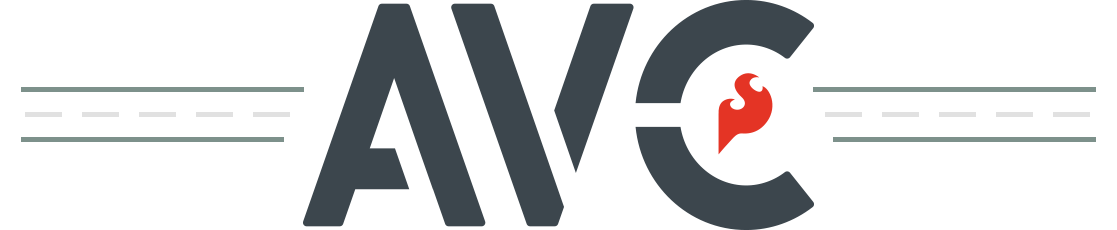 Avc logo with tracks