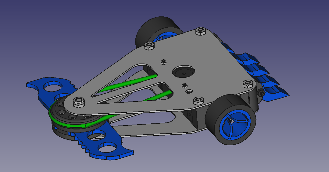 Blast radius with wheels
